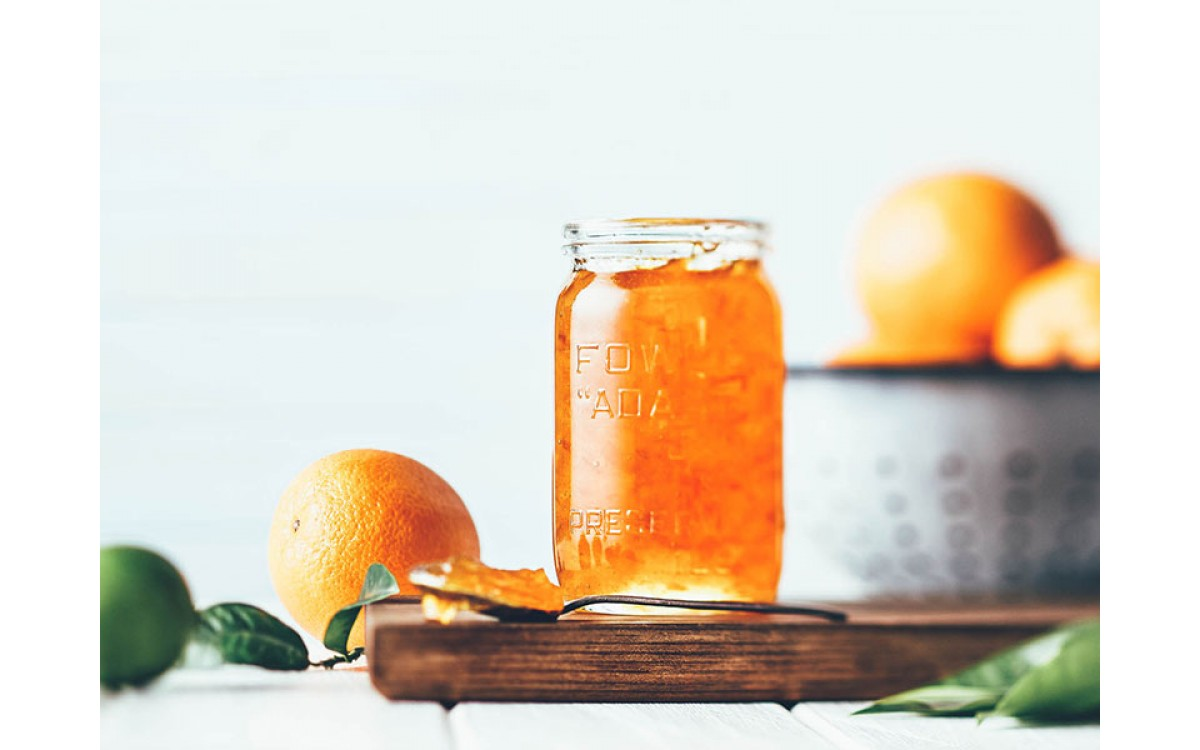 Orange Marmalade with Lemon Verbena